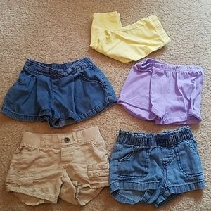 7 pieces girls bottoms size 3t